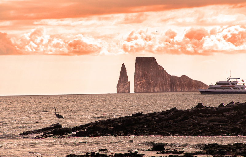 Galapagos Islands, View on Leon Dormido, Island of Espanola